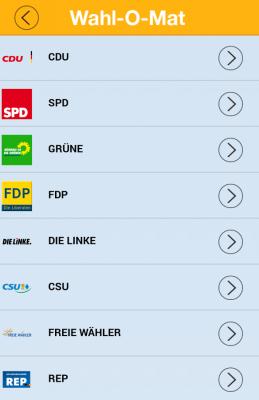 Der Wahl-O-Mat hilft bei der Entscheidung, mit welcher Partei man die meisten Übereinstimmungen hat
