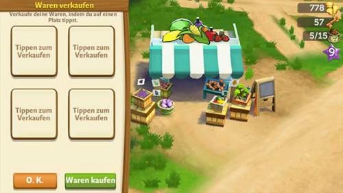 Verkauft eure Waren in der FarmVille 2 zu Höchstpreisen auf dem Verkaufsstand
