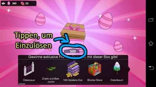 So kannst du 500 Eier einlösen und eine Belohnung erhalten