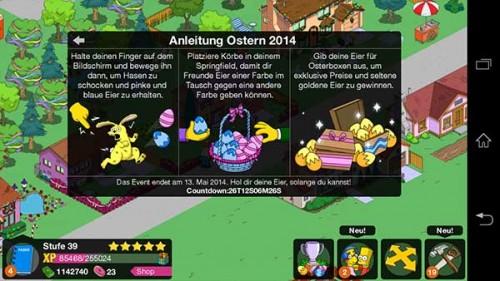 Anleitung zum Simpsons Springfield Ostern 2014 Event