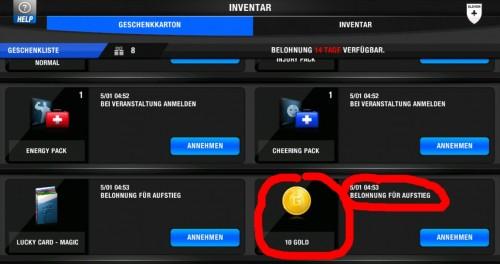 One For Eleven - Screenshot belohnung fuer aufstieg