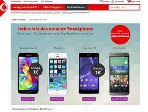 Vodafone Aktion: Jedes Jahr ein neues Smartphone