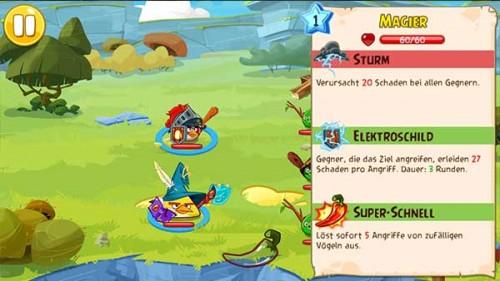 Eure Angriffe machen unterschiedlichen Schaden und haben andere Eigenschaften. Tippt auf euren Vogel und haltet, um euch diese Angriffe für den Kampf in Angry Birds Epic anzusehen  - (c) Rovio Mobile