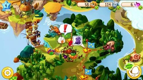Ausschnitt der Karte von Angry Birds Epic - (c) Rovio Mobile