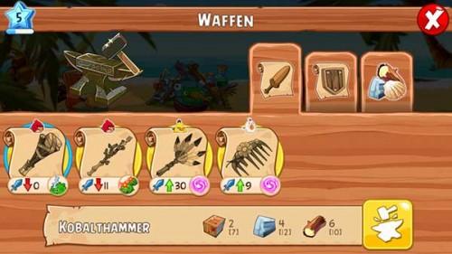 Bessere Waffen in Angry Birds Epic herstellen und einsetzen - (c) Rovio Mobile
