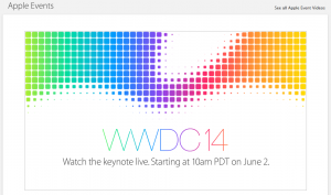 Apple Website zur WWDC 2014