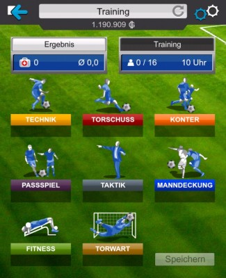 Goal Fußball Manager - Screenshot Training