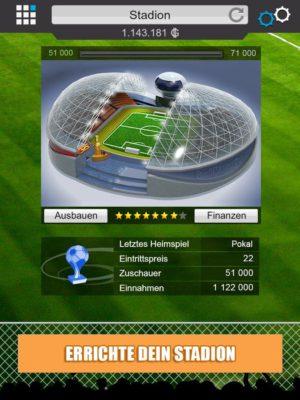 Goal Fussball Manager - Screenshot Stadion von Goal Games GmbH
