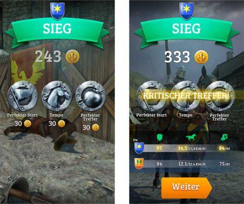 Erreicht einen kritischen Treffer in Rival Knights - (c) Gameloft
