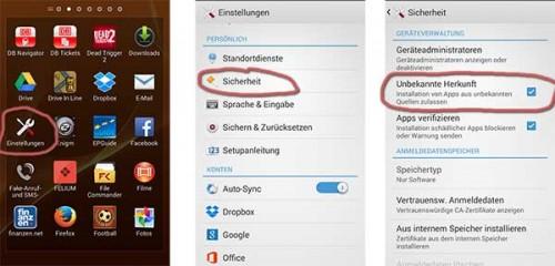 Android APK installieren: Zunächst müsst ihr Apps aus Unbekannter Herkunft erlauben