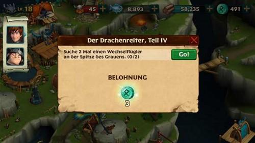 Aufgaben lösen und kostenlos an Runen in Dragons Aufstieg von Berk gelangen - (c) Ludia