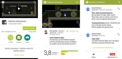 Das Design hat sich bei Google Play leicht verändert