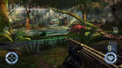 Dino Hunter Region 2 Dschungelnebel: Die Optik hat sich stark verändert und teilweise laufen Dinosaurier nun über eine Brücke - (c) Glu
