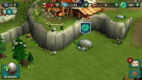 Dragons Aufstieg von Berk Steine und Bäume beseitigen - (c) Ludia