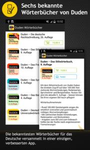 In der App könnt ihr die einzelnen Wörterbücher kaufen - (c) Bibliographisches Institut GmbH