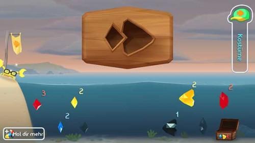 Mit Kristallen könnt ihr euch in Fish Out Of Water einen Vorteil verschaffen, aber immer nur einmalig - (c) Halfbrick