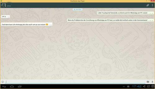 Nun könnt ihr mit WhatsApp am PC mit euren Freunden schreiben