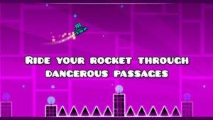 Raketen sorgen für Abwechslung in Geometry Dash - (c) RobTop Games