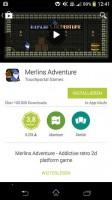So sieht die App Übersicht im neuen Google Play Design aus
