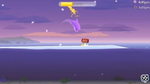 Wenn es schneit, bilden sich Eisschichten - Einigen Fischen hilft das, anderen nicht - (c) Halfbrick
