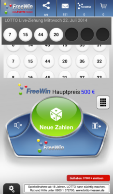 FreeWin von Lotto Hessen Screenshot 1
