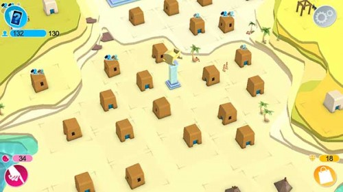 In Godus solltet ihr so viele Gebäude bauen wie es nur eben möglich ist und diese später zu Siedlungen verschmelzen
