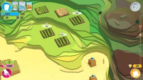 Damit deine Anhänger in Godus höher gelegene Bereiche erschließen, musst du eine Art Treppe bauen, also jede Schicht etwas versetzen