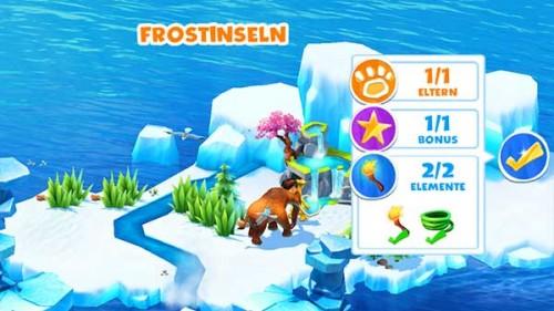 Vollständig erforschte Insel von Ice Age Adventures