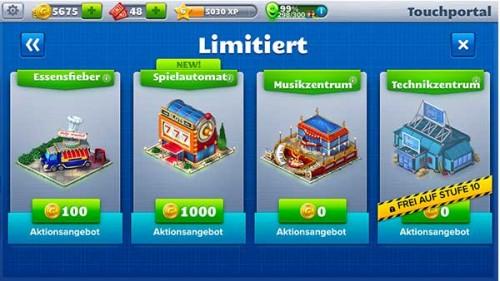 RollerCoaster Tycoon 4 Mobile: Limitierte Gebäude sind günstig und können zahlreiche Münzen einspielen