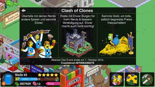 So spielt sich Simpsons Springfield Clash of Clones