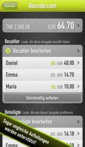 Splittr App Screenshot - (c) Raphael Wichmann