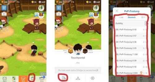 Im Screenshot seht ihr, wie ihr den Server in Battle Camp wechseln könnt