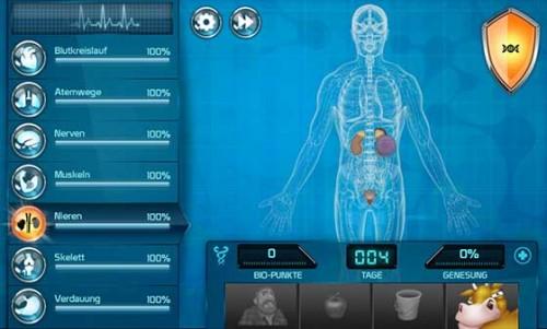 Wenn das Immunsystem (oben rechts) geringer wird, könnt ihr mehr Bio-Punkte sammeln