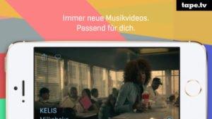 Musikvideos auf dem Smartphone und Tablet mit tape express anschauen - (c) tape.tv