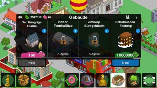 Simpsons Springfield Level 45 Gebäude