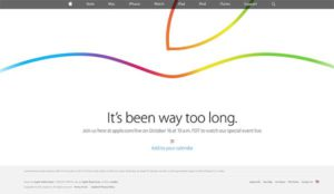 Apple Keynote Live Stream am 16.10.2014 - Quelle: apple.com/live