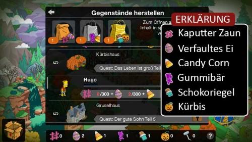 Erklärung der Gegenstände in Simpsons Springfield Treehouse of Horror XXV