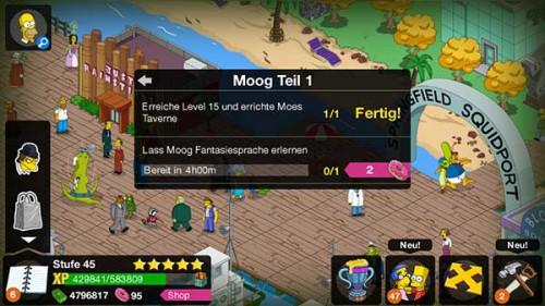 Simpsons Springfield: Neues Kostüm und die Storyline Moog