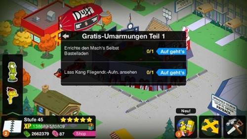 Simpsons Springfield Treehouse of Horror 2014 Storyline: Gratis-Umarmungen Teil 1