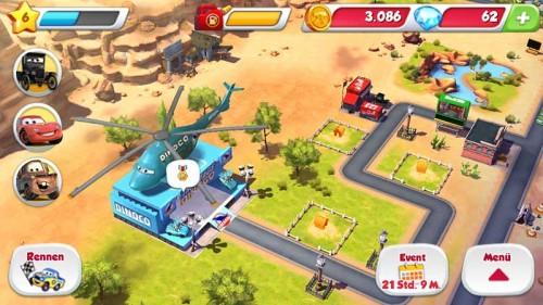 Team-Events bei Dinoco in Cars Schnell wie der Blitz