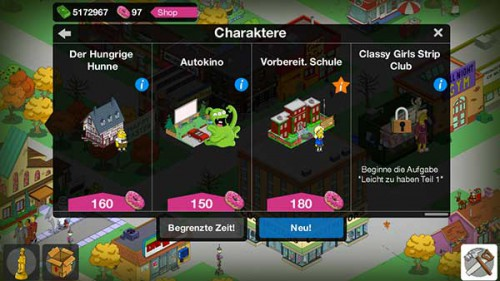 Zwei neue Figuren in Level 46 von Simpsons Springfield