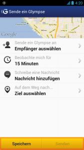 Glympse - Screenshot von Glympse