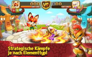 Kung Fu Pets Strategische Kämpfe sorgen für Action - (c) Com2uS