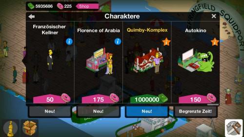 Mit der Errichtung des Quimby Komplex startet Simpsons Springfield in Level 47