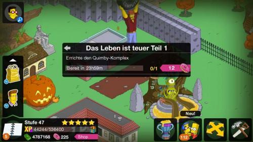 Simpsons Springfield versorgt euch mit der Storyline Das Leben ist teuer in Level 47