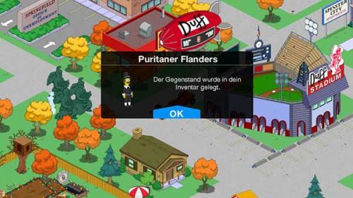 Puritaner-Flanders hält Einzug beim Simpsons Springfield Thanksgiving 2014 Update