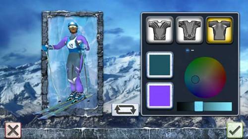 Passe deinen Rennläufer in Ski Challenge 15 deinem Geschmack nach an