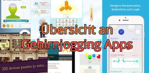 Übersicht an Gehirnjogging Apps für Android und iOS
