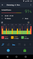 Zahlreiche Statistiken rund um den Schlaf in Sleep Better von Runtastic