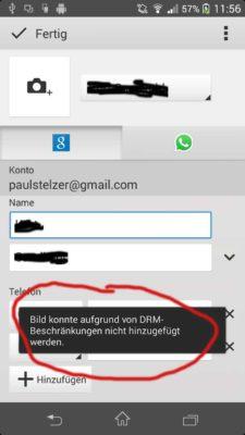 Wenn auch du bei einem Kontakt kein Bild aufgrund einer DRM-Beschränkung hinzufügen kannst, so haben wir hier für dich das passende Tutorial